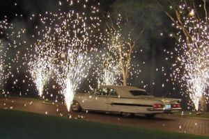 Wedding Car Fireworks